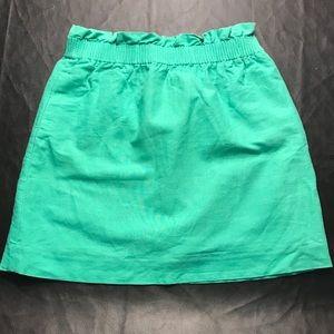 J. Crew linen/cotton sidewalk skirt